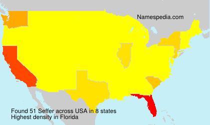 Familiennamen Seffer - USA