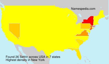 Surname Sefrin in USA