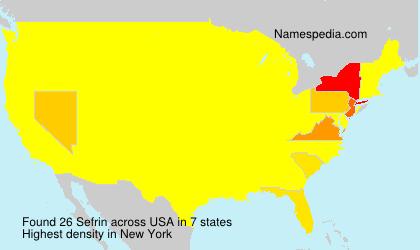 Surname Sefrin in USA