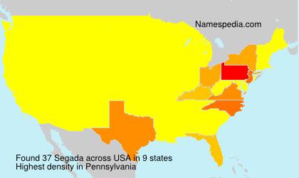 Surname Segada in USA