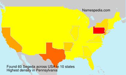 Surname Segeda in USA