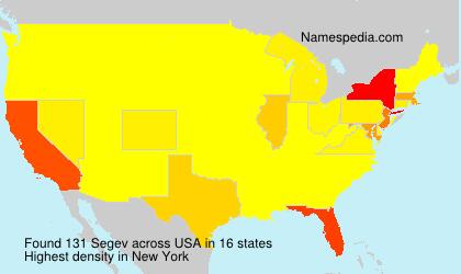Familiennamen Segev - USA