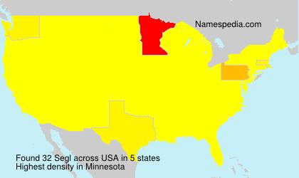 Surname Segl in USA