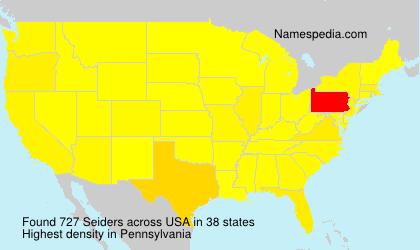 Surname Seiders in USA