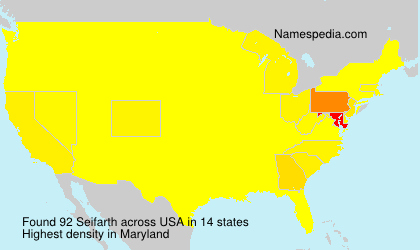 Surname Seifarth in USA