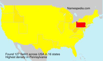 Surname Seifrit in USA