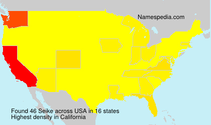 Surname Seike in USA
