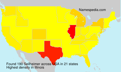 Surname Seilheimer in USA