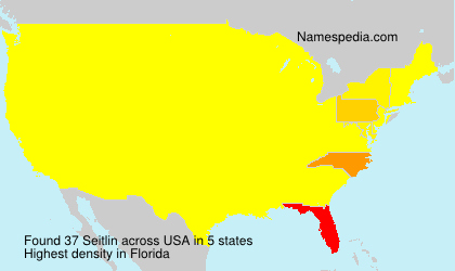 Surname Seitlin in USA