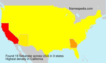 Surname Sekandar in USA