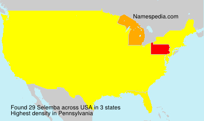 Surname Selemba in USA