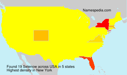 Surname Selenow in USA