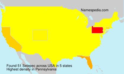 Surname Selepec in USA