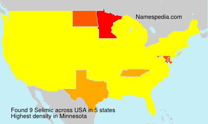 Surname Selimic in USA