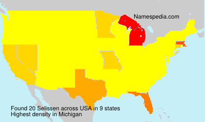 Surname Selissen in USA