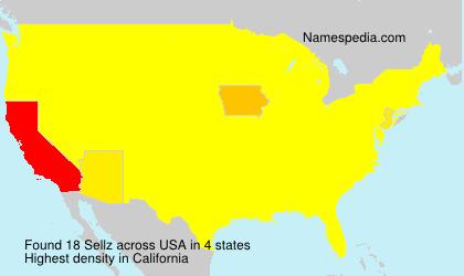 Familiennamen Sellz - USA