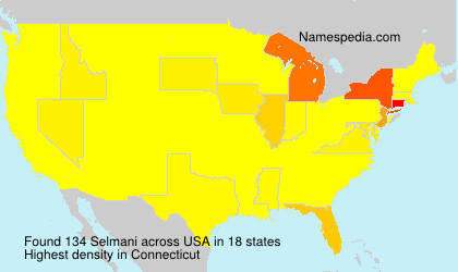 Surname Selmani in USA