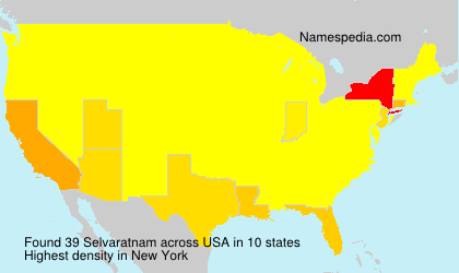 Surname Selvaratnam in USA