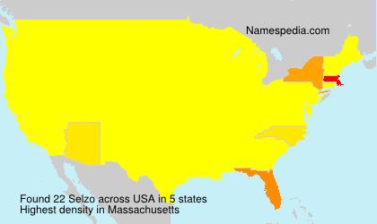 Familiennamen Selzo - USA