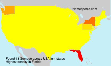 Surname Semago in USA