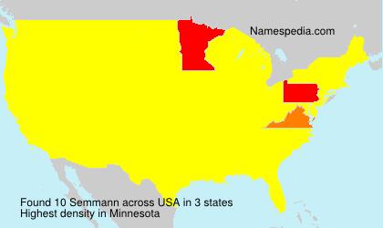 Surname Semmann in USA