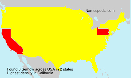 Surname Semow in USA