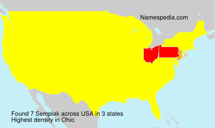 Surname Semplak in USA