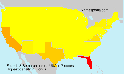 Surname Semprun in USA