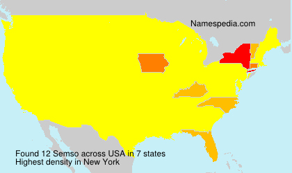 Surname Semso in USA
