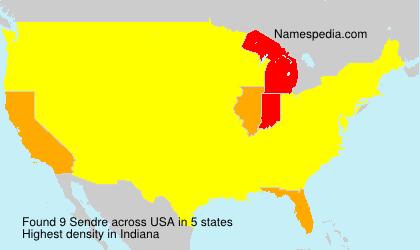 Familiennamen Sendre - USA