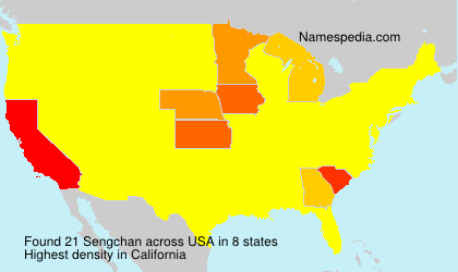 Surname Sengchan in USA