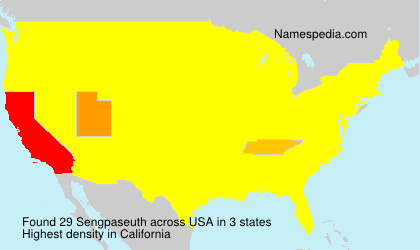 Surname Sengpaseuth in USA
