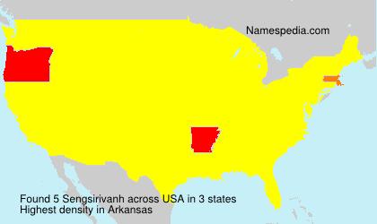 Surname Sengsirivanh in USA