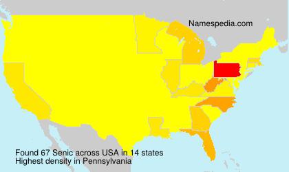 Surname Senic in USA