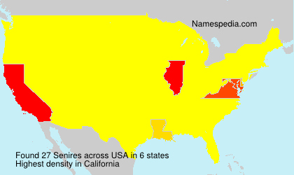 Surname Senires in USA