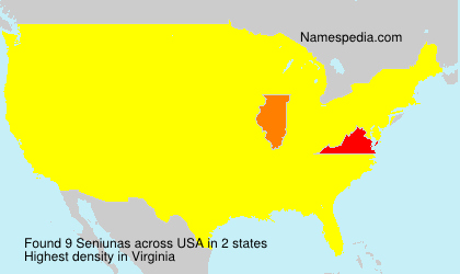 Surname Seniunas in USA