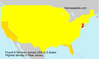 Familiennamen Senman - USA