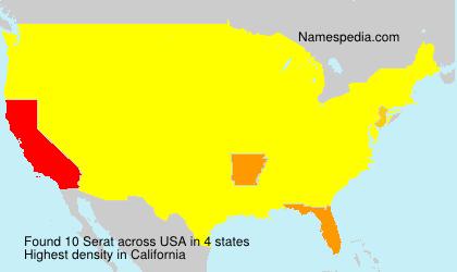 Surname Serat in USA