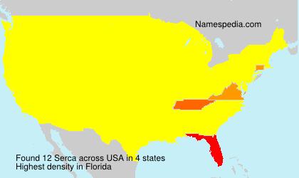 Familiennamen Serca - USA