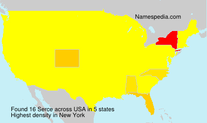 Surname Serce in USA