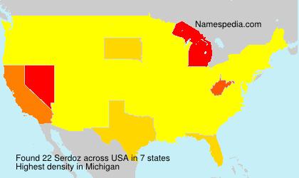 Surname Serdoz in USA