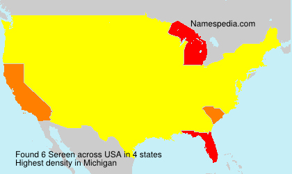 Surname Sereen in USA