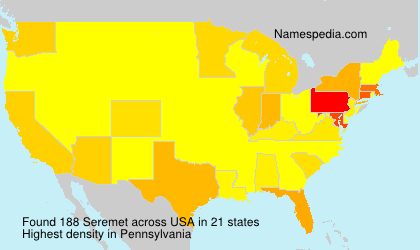 Surname Seremet in USA
