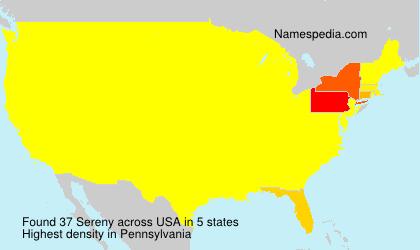 Familiennamen Sereny - USA