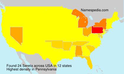 Surname Sereta in USA