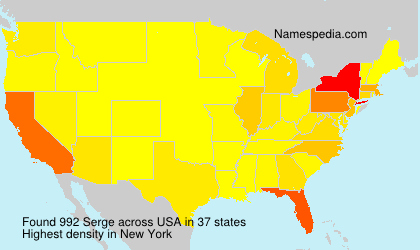 Surname Serge in USA