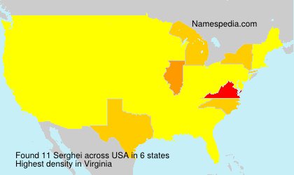 Surname Serghei in USA