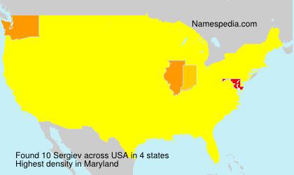 Surname Sergiev in USA