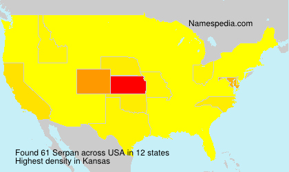 Surname Serpan in USA