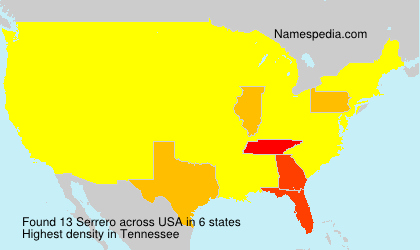 Surname Serrero in USA
